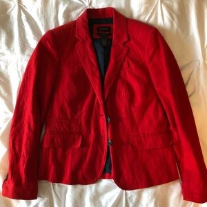 Jcrew woman's school boy blazer red